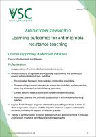 Antimicrobial stewardship: Learning outcomes for antimicrobial resistance teaching