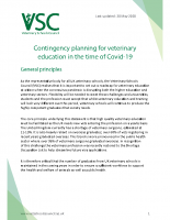 Contingency planning for veterinary education in the time of Covid-19